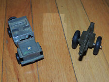 Vintage Plastic Toy Ideal Army Jeep and Cannon Howitzer