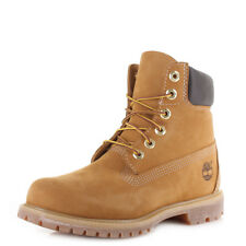 Womens Timberland 6 Inch Premium Wheat Yellow Iconic Leather Ankle Boots Sz Size
