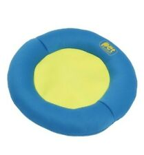 Pet Buddies Flying Disk Pooch Plushy Dog Toy Soft Disc Floats Yellow Blue PB1901