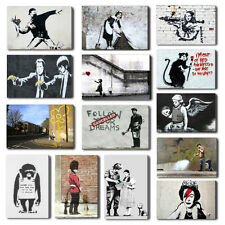 Banksy Maid, Hope, Pulp Fiction Canvas Wall Art Print, Free Hangers Many Designs
