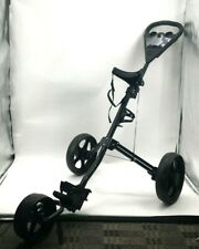 2nd Swing Midnight Black 3-Wheel Golf Push & Pull Cart Lightly Used