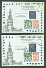 Block H32 Special sheet 1978 Germany Europa Future Ships (2 pcs mint/used)