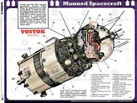 SCIENCE SPACE MANNED FLIGHT VOSTOK CUTAWAY USSR CRAFT ART PRINT POSTERBB7391B