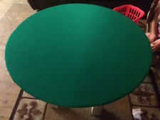 """Green Poker Felt Table cover - fits 48"""" round table - elastic edge bl - mto"""
