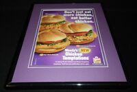 Wendy's 2004 Chicken Sandwiches 11x14 Framed ORIGINAL Advertisement
