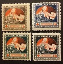 Latvia 1919 Perf.set Red Cross Nice Money paper OG  Not used ref. LV-10