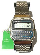 NEW W/TAGS VINTAGE ALBA SEIKO WRIST CALCULATOR ALARM WATCH Y739-5000