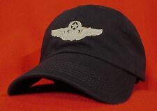 USAF COMMAND PILOT Wings ball cap low-profile embroidered aviator hat Dark BLUE