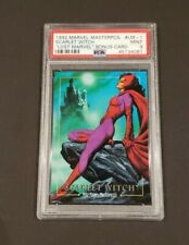 1992 SkyBox Marvel Masterpieces Lost Scarlet Witch #LM-1 PSA MINT 9! LOW POP!