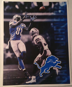 "Calvin Johnson FATHEAD Player Mural 17"" x 13"" Jumping Catch vs. Cowboys DECAL"