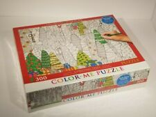 Puzzle Christmas Trees 300 Piece Color Me Jigsaw Relax Activity USA Eurographic