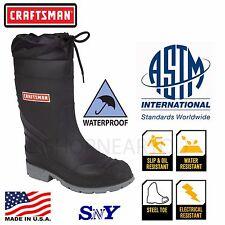 Steel Toe WATERPROOF Insulated Oil & Slip Resistant Rubber Work Boots ASTM CF
