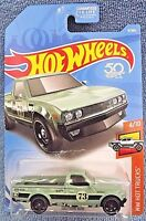 2018 Hot Wheels #9 HW HOT TRUCKS 4/10 DATSUN 620 Light Green w/Black St8 Spokes