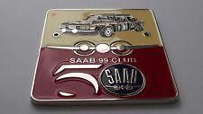 Saab 99 grill badge made in Enamel Vintage grill badge emblem 1967-1984
