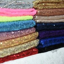 "Sequin Fabric Novelty Sparkly Shiny Bling Glittery 10""x 14"" Peice Material Cloth"