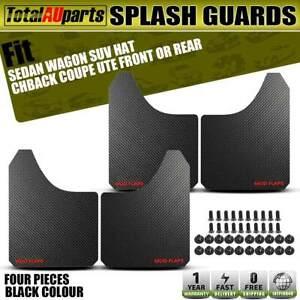 4x Front Rear Black Universal Splash Guard Mud Flap for Subaru Forester Saab 9-3