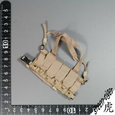 A140 1:6 Scale ace Military action figure parts - BHI Chest rig Tan Free ship