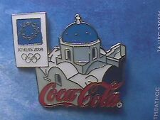 ATHENS 2004 OLYMPIC LAPEL PIN COLLECTIONS: COCA-COLA COKE Greek Island Santiori