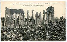 CP 62 - PAS-DE-CALAIS - Béthune - Après la guerre - Intérieur Eglise Saint-Waast
