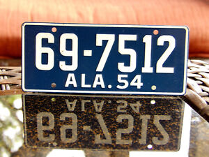 1954 ALABAMA Wheaties Cereal Mini Bike BICYCLE Metal License Plate Sign