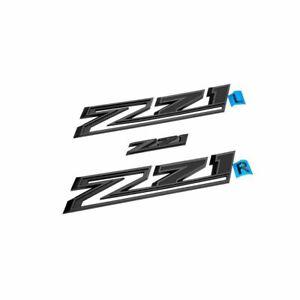 2020-2022 Chevrolet Silverado 1500 Gloss Black Z71 Emblems 85109487 Genuine OEM