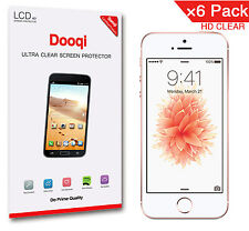 6X Dooqi Hd Clear Lcd Screen Protector Guard Saver For Apple iPhone 5 5s 5c Se