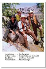 Bonanza - Dan Blocker, Pernell Roberts; Lorne Greene, Michael Landon - Autogramm