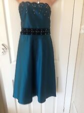 Phase Eight A Fascia Con Lustrini/Gem silk dress size 14 Immac