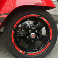 For Vespa GTS300 2D Printing Front Rear Wheel Rim Inner Emblem Stickers Decals