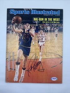 Rick Barry Signef 1974 Sports Illustrated No Label PSA/DNA Golden State Warriors