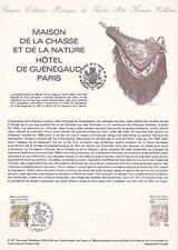Document philatélique 41-81 1er jour 1981 Maison de la Chasse et de la Nature