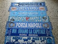lotto 7 sciarpe NAPOLI FC club football calcio scarf bufanda echarpe schal lot a