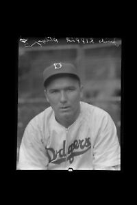 1940 Jimmy Ripple Brooklyn Dodgers Original Cellulose Negative by Charles Conlon
