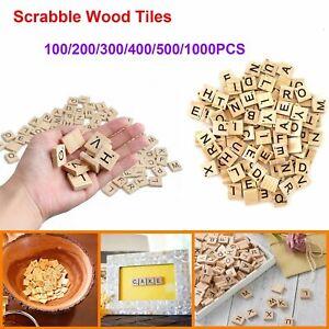 1000pcs Vintage Wooden Scrabble tiles full Set DIY Wood Letter/Number for Craft