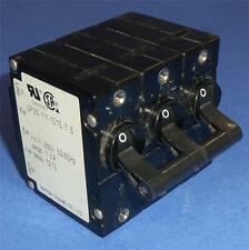 NIPPON THERMO 250V 7.5A 3-POLE CIRCUIT BREAKER UP30-111-101E-7.5