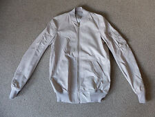 Rick Owens women's leather bomber size 10 (42 Italy) Pearl