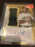 Topps Triple Threads Matt Olson Auto Relic SSP A's /25 Gold
