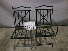 2 Stück Design Stahl Stuhl Klappstuhl Sessel Loungsessel Retro Vintage #27951