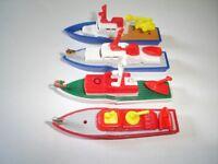 SEA RESCUE 1995 MODEL BOATS & SHIPS SET KINDER SURPRISE PLASTIC TOYS MINIATURES