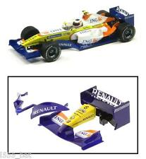 Scalextric W9713 Renault 2008 F1 Rear Wing Spoiler Barge Board Nose Cone C2864