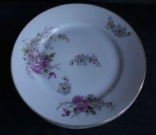 9 ASSIETTES Plates Anciennes en Fine Porcelaine Décor Floral