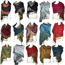 Women Paisley Pashmina Scarf Two Sided Shawls Wraps | Christmas Gift ~ 20 COLORS