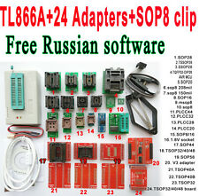 Minipro TL866A programmer 24 adapter socket SOP8 Clip IC clamp Bios Flash EPROM