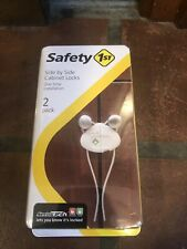 Safety First Side by Side Cabinet Baby Proof Lock 2 Locks Per Pack Hs158 New