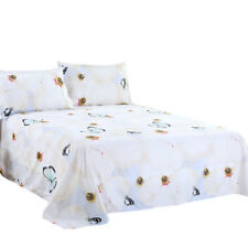 3D Butterfly Pattern Printed Bedding Set Bed Linen Sheet Pillowcase 4Pcs
