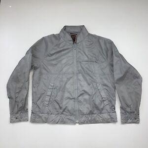 Vintage Christian Dior Monsieur Sport Windbreaker Jacket Size Large Gray 90s
