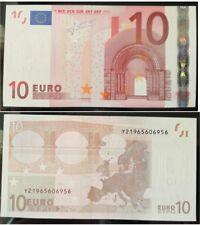 "Greece. 10 Euros  prefix ""Y219""  Greek  First series Trichet Signature GEM UNC"