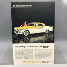 Vintage Zeitschrift Anzeige Aufdruck Design Werbe Chrysler Automobile