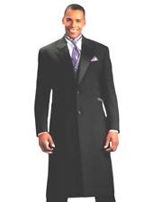 Men's Black Frock Zoot Tuxedo Coat Lapel Really Long Western Duster TUXXMAN