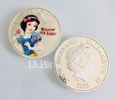 Disney Silver Plated Snow White New Zealand Coin Replica Keychain Set